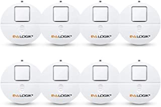 EVA LOGIK Modern Ultra-Thin Window Alarm with Loud 120dB Alarm and Vibration Sensors Compatible with Virtually Any Window, Glass Break Alarm Perfect for Home, Office, Dorm Room- 8 Pack