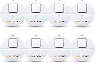 EVA LOGIK Modern Ultra-Thin Window Alarm 8 Pack with Loud 120dB Alarm and Vibration Sensors Compatible with Virtually Any ...