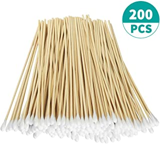 """200pcs Count 6"""" Cotton Swabs with Wooden Handles Cotton Tipped Applicator"""