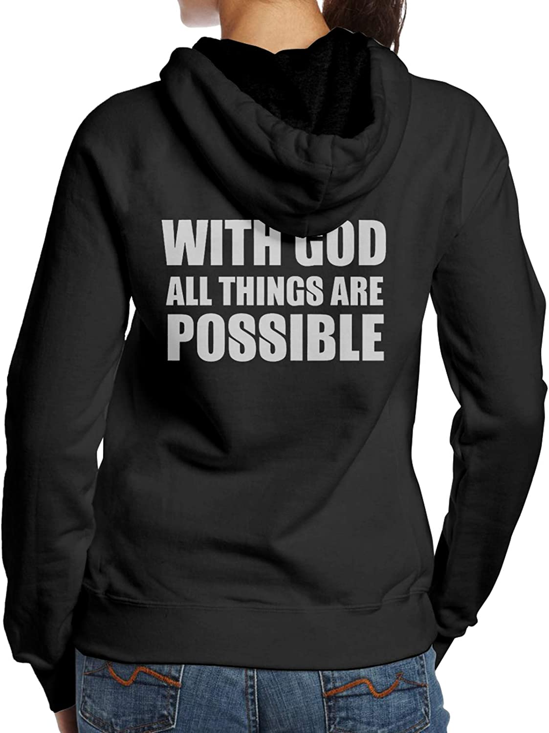 depot With God All Things Are Daily bargain sale Sweatshi Hoodie Fashion Possible Woman'S