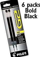 Value Pack of 6, Pilot G2 Roller Ball Ink Refills, Bold, Black, 6 Packs = 12 Refills, (77289)