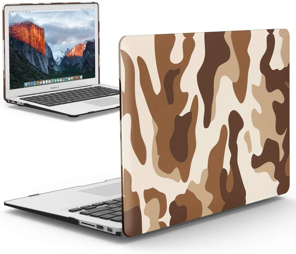 IBENZER MacBook Pro 13 Inch Case 2012-2015, Soft Touch Hard Case Shell Cover for Apple MacBook Pro 13 with Retina Display A1425 1502, Desert Camouflage, MRD13CFBR+1