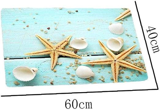 Felpudo Playa De Las Estrellas De Mar Seashell Tem/ático Antideslizante Alfombra De Ba/ño Ba/ño Ba/ñera Suelo /área De Cocina Puerta De Entrada Alfombras Mat