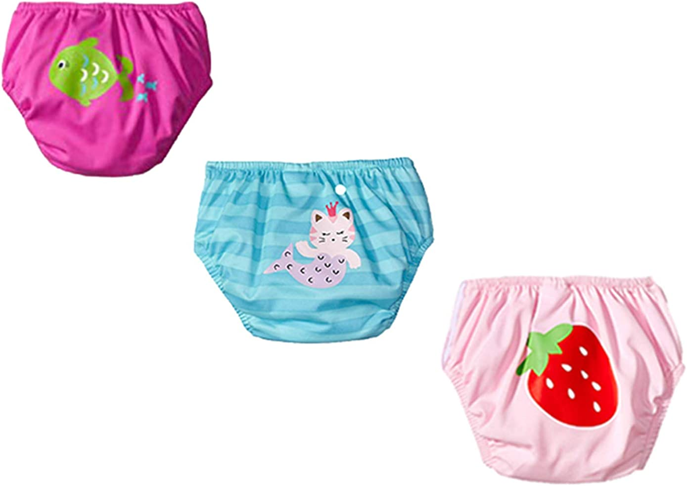 KIKO MAX Baby Girls' Infant Absorbant Limited time cheap sale Three-Pack Swim latest Reusable
