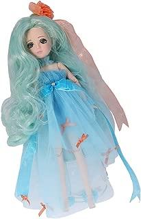 Jili Online Flexible 30 Joints 27cm Dresses Vinyl Ball Jointed BJD Doll Kid Playset Toy Birthday Gift Blue
