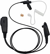 GoodQbuy FBI Style Covert Acoustic Air Tube Headse Earpiece Mic For Motorola Radio GP328 GP338 HT750 HT1250 PR860 PRO5150 PRO5350 6-pin