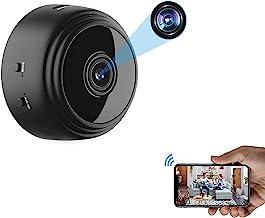 Mini câmera espiã WiFi OVEHEL HD 1080P sem fio, câmera de vídeo escondida, pequena câmera de babá com visão noturna e movi...