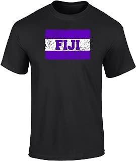 Phi Gamma Delta Vintage Distress Group Flag Print T Shirt