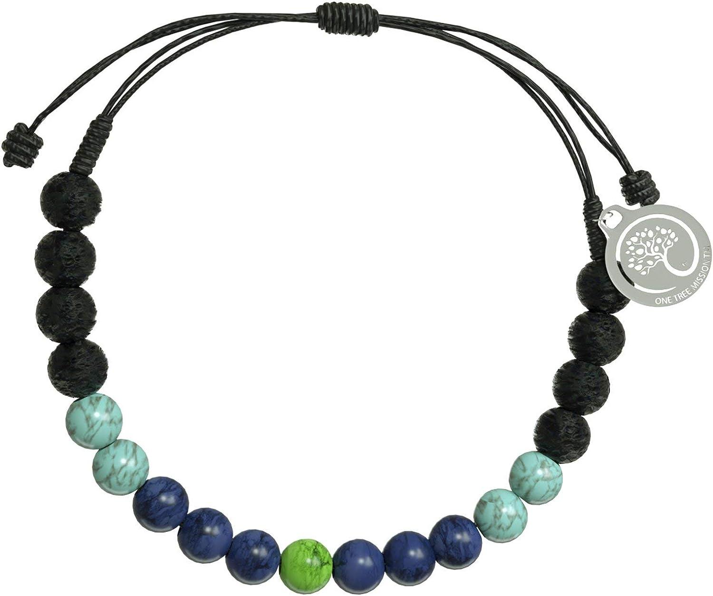 1 Tree Mission Bracelet Handmade Semi Precious Stone Beads on Ad