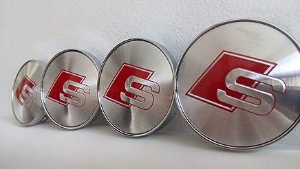 60/mm 4/St/ück Felgendeckel mit Peugeot-Logo