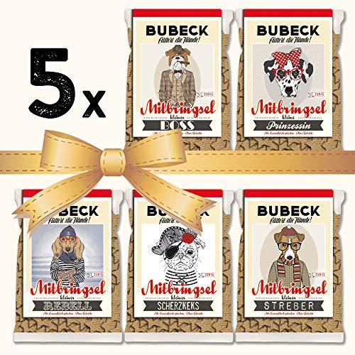 seit 1893 Bubeck Hundeleckerli glutenfrei | mit Lamm & Kartoffel | Hundekekse für futtersensible Hunde | 5 x 210g | ohne Zucker & ohne Konservierungsstoffe