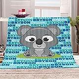 xczxc Manta de Franela Koala Gris 3D Impreso de Microfibra Franela Mantas, Suave niños Adultos sofá Cama Manta Polar 180x200cm