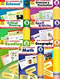 EVAN MOOR Skill Sharpeners Grade 5 7 book set( Grammar and Punctuation, Critical Thinking, Science, Spell &Write, Reading, Geography, Math)