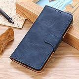 BELLA BEAR Funda para LG K40,Billetera Cuero Función Soporte Material PU Suave Phone Case Cover for LG K40(Azul)
