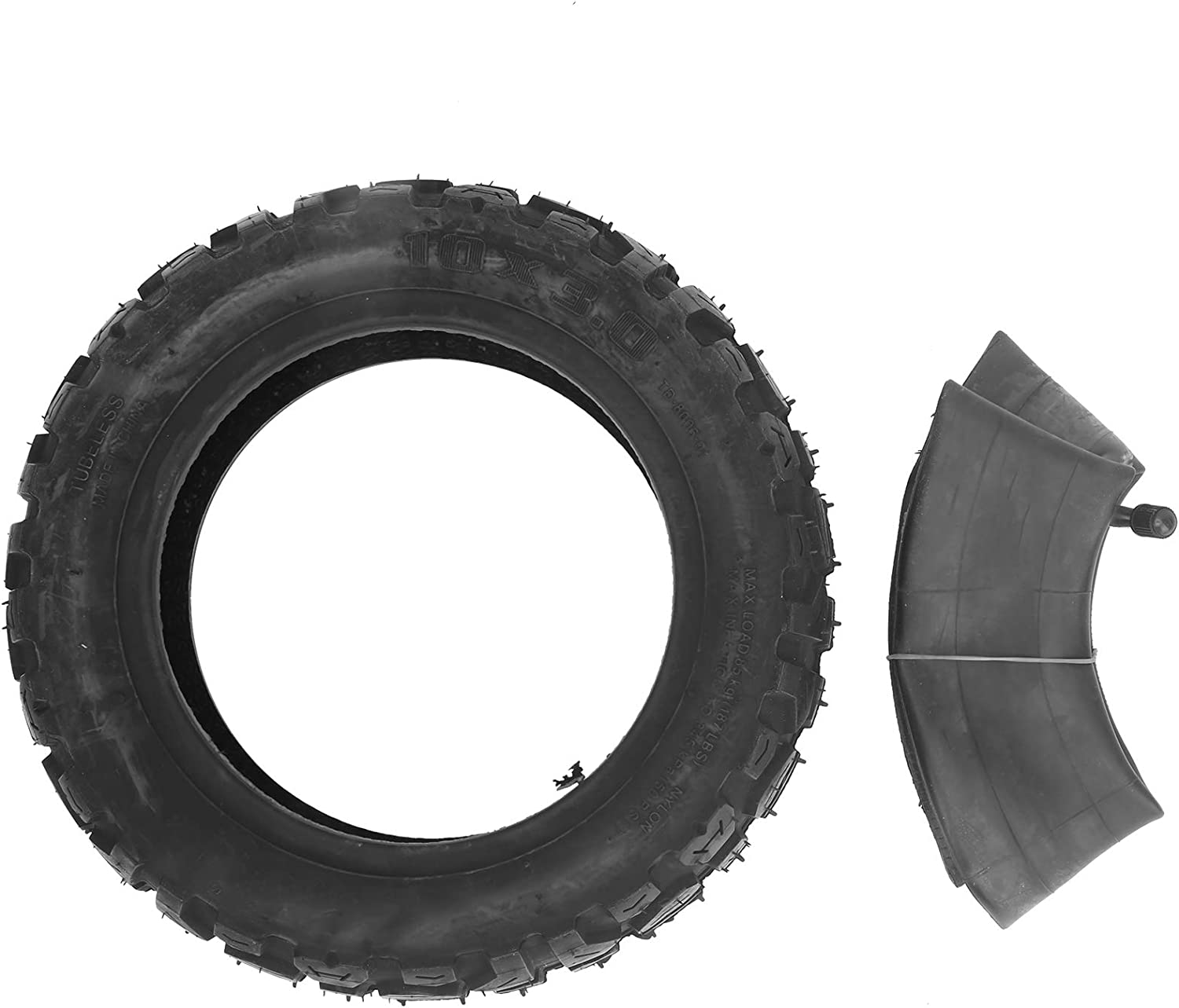 Dilwe 10in Scooter Tire, 10x3.0 Inner and Outer Tire Antiskid Wheel Thickened Electric Scooter Tyre Electric Scooter Tire