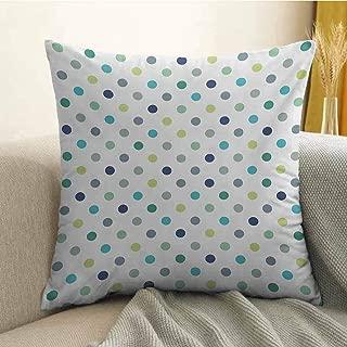 Polkadot Pillowcase Hug Pillowcase Cushion Pillow Polka Dots Retro Classy Vintage Fabric Pattern Design Style Anti-Wrinkle Fading Anti-fouling W16 x L16 Inch Apple Green Dark Blue Jade Green