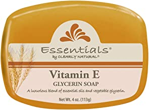 Clearly Natural Essentials Glycerin Bar Soap Vitamin E, Pack of 12, 4-Ounces Each
