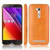 Étui de protection rigide en similicuir pour Asus ZenFone Go 4,5' ZB450KL / ZB452KG Orange