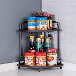 aipipl Accueil étagère à épices, Support à 2 Niveaux bocaux à épices Support de Bouteille étagère de Cuisine Organisateur ...