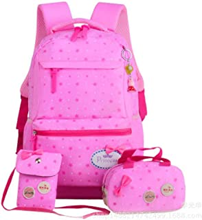 Star Printing 3 Set Children School Bags 2018 New Student Kids Orthopedics Schoolbags Backpack Zhaozb (Color : Pink)