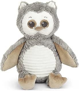 Bearington Baby Owlie Hugs-A-Lot Plush Stuffed Animal Gray Owl, 14