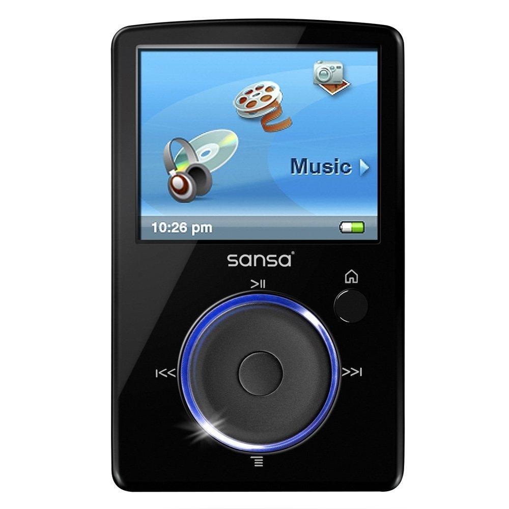 MP3 Media Player Digital LCD FM radio,SD Slot 4 GB SanDisk Sansa Fuze Black