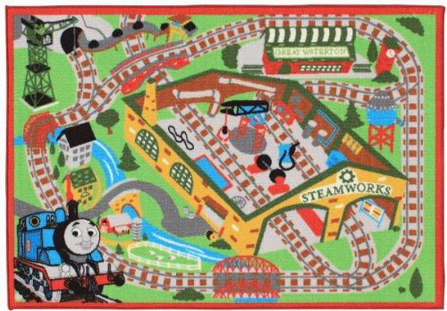 Thomas & Friends Railroad Game Rug 2 Trains