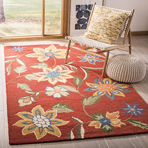 Safavieh Blossom Collection BLM673A Handmade Rust and Multi Premium Wool Area Rug (3' x 5')