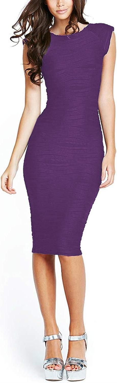 Taydey Womens Midi Dresses Sleeveless Knee Length Party Evening Dress