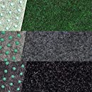 200x300cm Zuschnitt nach Ma/ß grau Rasenteppich // Kunstrasen Farbwunder Royal