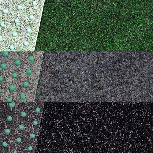 Kunstrasen Fertigrasen in 3 Farbig mit Drainagenoppen (160 cm x 200 cm, Anthra 900 (Anthrazit))