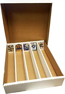 (5) 5000 Count Corrugated Cardboard Storage Box by Max Pro for Baseball, Football, Basketball, Hockey, Nascar, Sportscards, Gaming & Trading Cards Collecting Supplies FULL LID