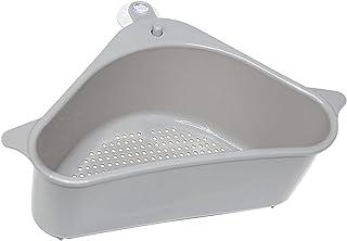 Sink Basket Strainer, No Drilling Triangular Multifunctional Drain Shelf Kitchen Sink Strainer Holder Multifunctional Box ...