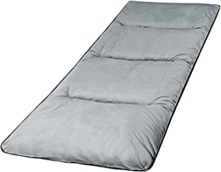 """REDCAMP XL Cot Pads for Camping, Soft Comfortable Cotton Thick Sleeping Cot Mattress Pad 75""""x29"""", Grey and Navy Blue"""