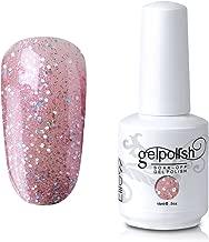 Elite99 Soak-Off UV LED Gel Polish Nail Art Manicure Lacquer Glitter Bisque 363 15ml