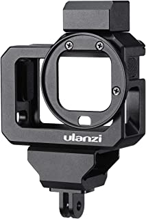 Ulanzi G8-5 Aluminum Video Cage for GoPro 8, Dual Cold Shoe Mount Vlog Case Housing Shell Protective Frame Mount w 52mm Fi...