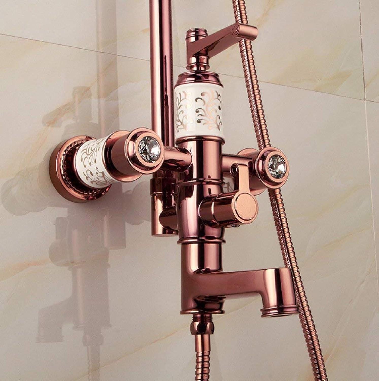 Willsego Duschset Europa Dusche RoséGold Dusche Lift Keramik Dusche Badewanne Dusche