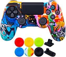 9CDeer 1 Piece of SiliconeTransfer Print Protective Cover Skin + 6 Thumb Grips & Dust..