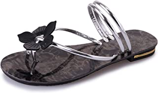 Ling-long Summer Beach PU Slippers Ladies Fashion Beautiful Flat Shoes for Outside Home Female Slides Sapato Feminino