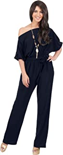 Womens One Off Shoulder Short Sleeve Piece Jumpsuit Pant Suit Romper