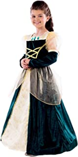 Kids Deluxe Princess Costumes Childrens Royal Ball Gown Queen Dress Outfits