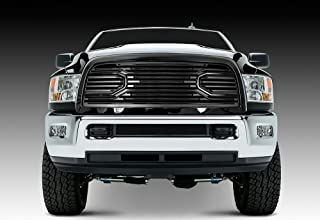 Razer Auto Gloss Black Big Horn Style Complete Grille Factory Replacement Grille w/Shell for 2010-2018 Dodge RAM 2500/3500/4500/5500