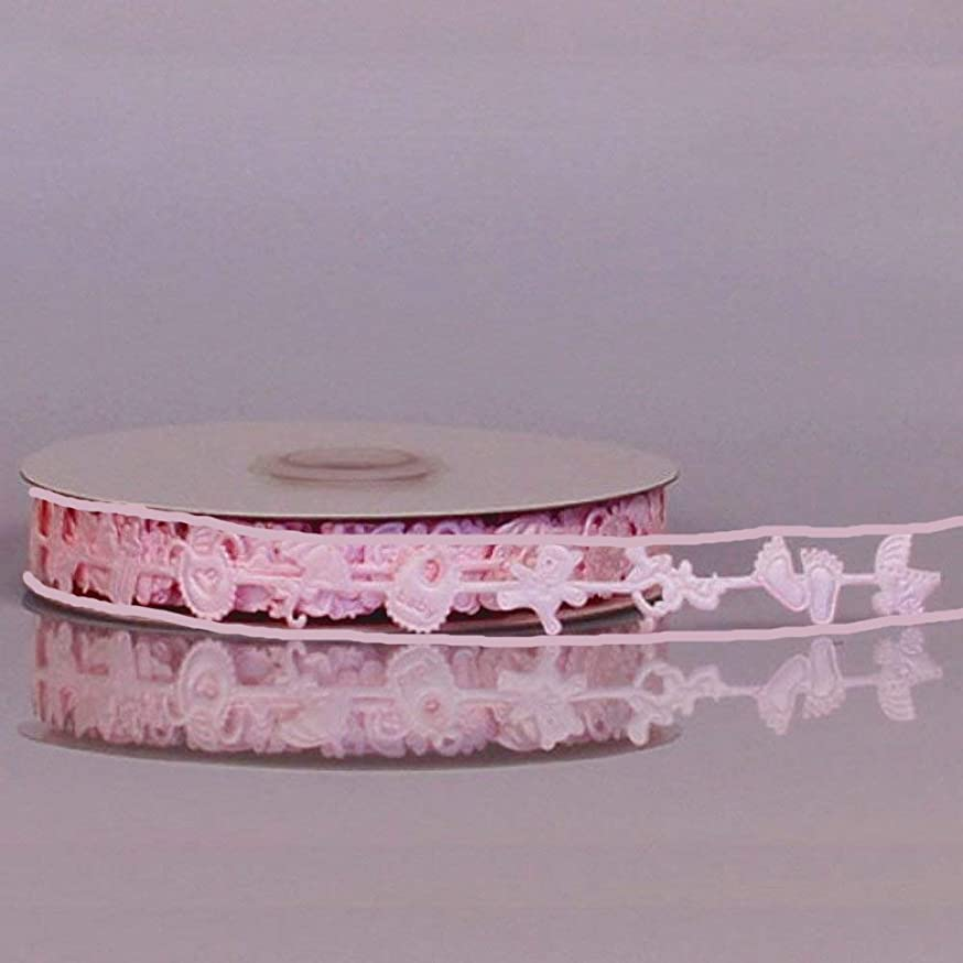 Baby Girl Pink Decorative Ribbon - 25 Yards 16MM (1/2in. Wide)