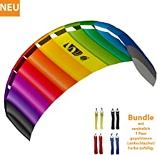 HQ Lenkdrachen Lenkmatte Drachen Symphony Beach III 2.2 Rainbow Bundle Kite