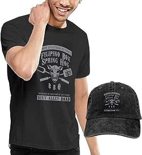 Tom Waits Inspired Filipino Box Spring Hog Camiseta de Manga Corta para Hombre,Gorra de béisbol Combinación Negro