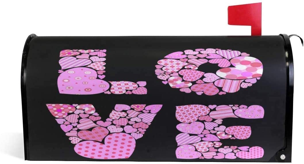 YAOAIAI Valentine Max 61% OFF Pink Love Ranking TOP15 Heart Black in Mailbo Magnetic 21x18