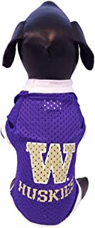 NCAA Washington Huskies Athletic Mesh Dog Jersey