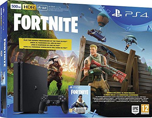 PS4 500 Go F Noir avec Fortnite (Voucher)