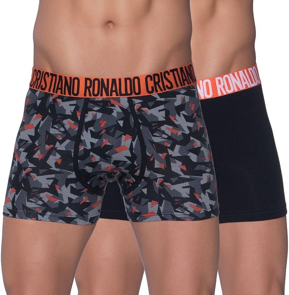 Cristiano ronaldo enganliegende boxershorts fashion,boxer per uomo attillati,94% cotone, 6% elastan,2 paia 1726
