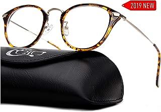 CGID 2019 New Style Fashion Blue Light Blocking Glasses Anti Glare Fatigue Safety Computer Glasses with Premium TR90 Tortoise Metal Frame Transparent Lens BL903